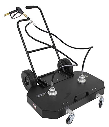 Product Image of the Steel Dragon Tools 36' Aluminum Flat Surface Cleaner for Hot Cold Water Pressure Washer 4000 PSI 21 GPM with Wheels