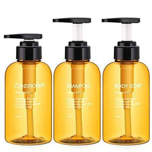 3 Botellas de Dispensadores de loción y de jabón, Segbeauty 300ml botellas...