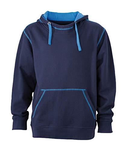 2Store24 Men's Lifestyle Hoody in Navy/Cobalt Size: M