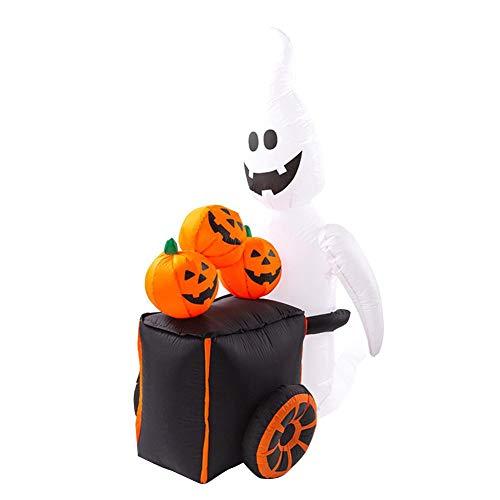 Muñeca Inflable De Calabaza De Halloween, Carro Inflable De Calabaza Fantasma Blanco,...