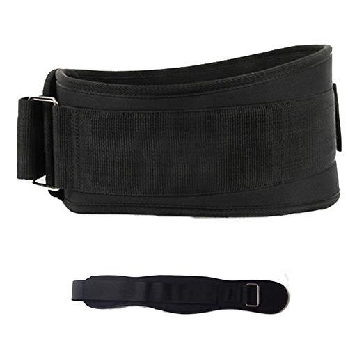Rysmliuhan Shop Ejercicio En Casa Cinturon Lastre El Entrenamiento de Fuerza de Equipo Cinturón para Gimnasio Cinturón de Ejercicio para Gimnasio BodyBulding Black,L