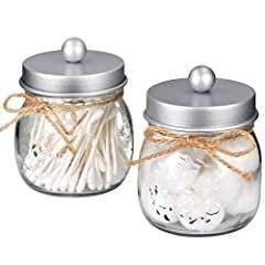 ✅The jars will be a cute,fun and beautiful addition to your home. Ideal home decor, rustic decor, western decor, bathroom decor, farmhouse decor, farmhouse style, western, rustic style, contemporary decor ✅This Mason storage jars are an attractive wa...