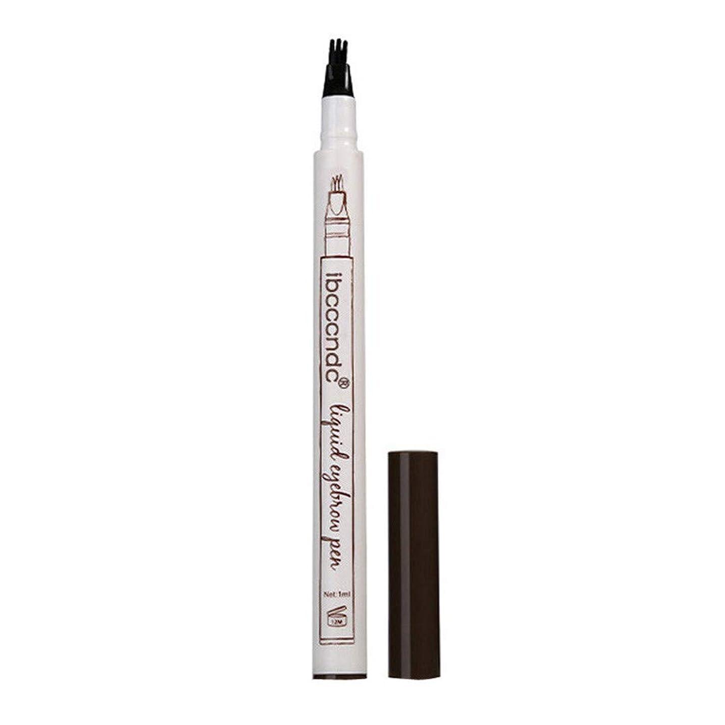 膨らませる故意の胆嚢3本眉タトゥーペン防水フォークチップスケッチ化粧ペンマイクロブレードインク