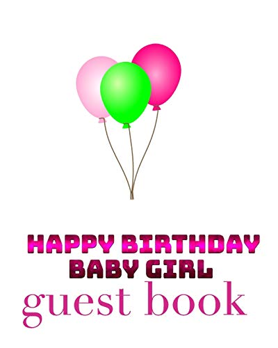 Happy Birthday Balloons Baby Girl Bank page Guest Book