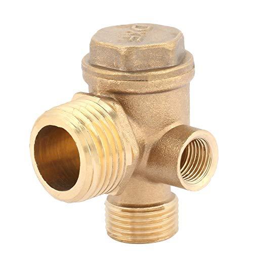 Luftkompressor-Rückschlagventil, 3-Port-Messing-Luftkompressor-Rückschlagventil mit Außengewinde, Verbindungswerkzeug für industrielle Heimanwendungen