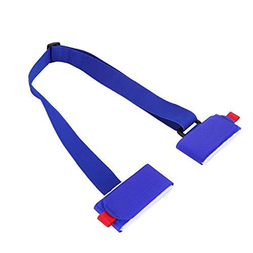 DAUERHAFT Robuster Snowboardgurt aus Verstellbarer Schnalle aus Nylonmaterial für Skistöcke(Blue)