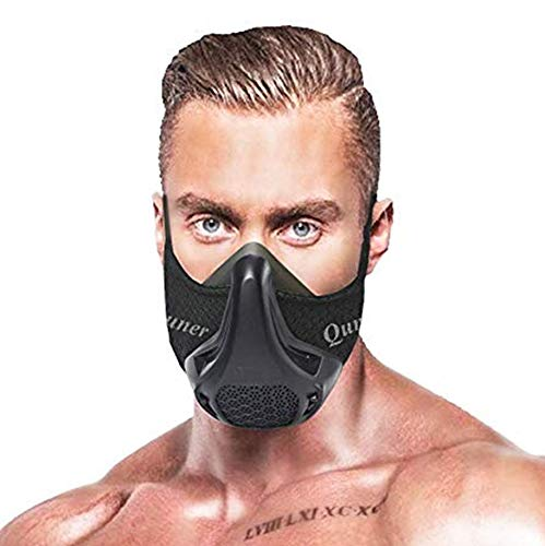QISE Training Mask Workout Mask 24 Breathing Resistance Levels Fitness Mask High Altitude Running Mask Oxygen Mask Increase Cardio Endurance