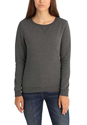 DESIRES Vicky O-Neck Damen Sweatshirt Pullover Sweater Mit Rundhalsausschnitt Und Fleece-Innenseite, Größe:S, Farbe:Grey Melange (8236)