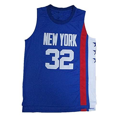 YXST Camiseta De Baloncesto NBA Redes # 32 Malla Bordada De PoliéSter Top,para JóVenes Sudadera,RéPlica De Jugador De Baloncesto,Blue,L