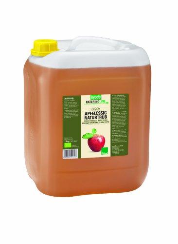 Vinaigre de Cidre Bio PREMIUM Trouble 10 Kg Non Pasteurisé Byodo | Vinaigre de Cidre Organique Naturelle certifié Labels Européen et Bioland - Vinaigre de cidre de Pomme Bio Qualité Professionnelle