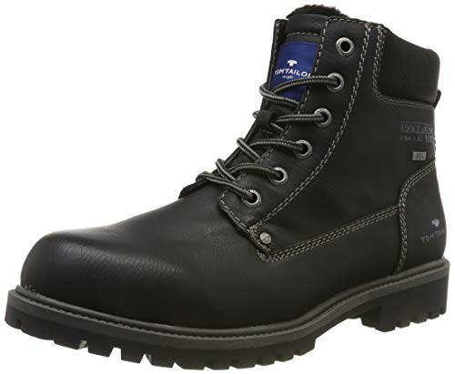 TOM TAILOR Herren 7981001 Klassische Stiefel, Schwarz (Black 00001), 44 EU