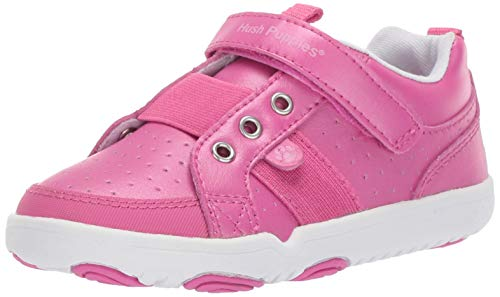 Hush Puppies Girls' Jesse Sneaker, Berry, 090 Wide US Toddler