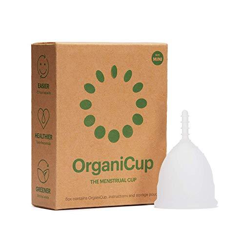 OrganiCup Menstruationstasse - Größe Mini - Gewinner des AllergyAwards 2019 - FDA-zugelassen - Weiches, flexibles, wiederverwendbares medizinisches Silikon