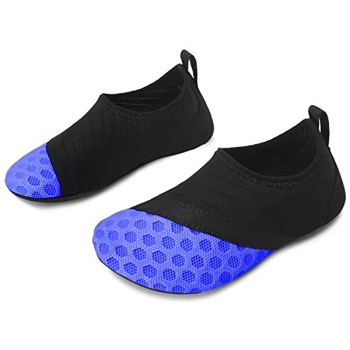 L-RUN Wasserhautschuhe Quick Dry Aqua Socks Barefoot Schuhe Dot_Blue 5.5-6 = EU22-23
