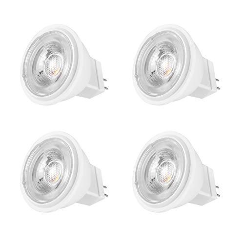 MR11 GU4 LED 12V Lampen 4W 30W 35W 40W Halogen Glühlampe Ersetzt Warmweiß 3000K ø34.5x38mm 38 Grad 390LM Abstrahlwinkel LED-Strahler 4er Pack