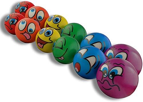 STUWU 12X Stressball Antistressball Streßball Knautschball Wutball Knetball Grimassenball 6cm