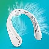 portable neck fan, hands free bladeless fan, 5200mah battery operated wearable personal fan,