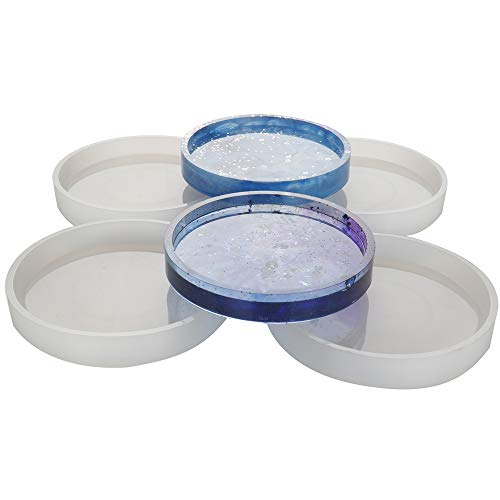4 Pack Big DIY Round Coaster Silicone Mold, Diameter 3.94/10cm, Molds for Casting with Resin, Cement