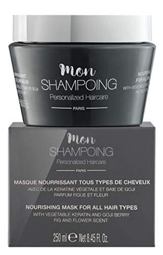 Mon Shampoing - Masque Nourrissant - Tous types de cheveux - Kératine Végétale & Baie de Goji - Action Rapide - 250 ml