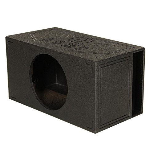 Q Power QBOMB15VL SINGLE Single 15-Inch Side Vented Speaker Box with Durable Bed Liner Spray