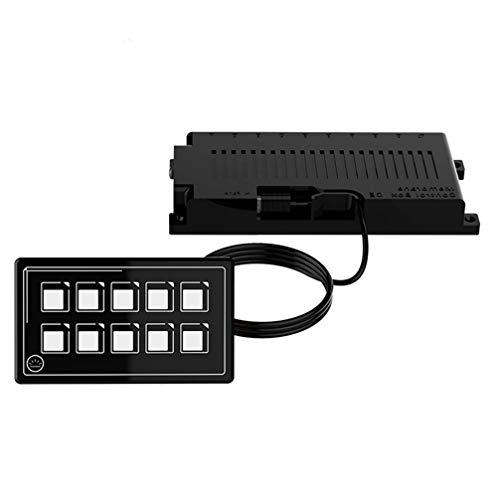 FAVOMOTO Panel de Interruptor con Retroiluminación 10P Caja de Panel de Control de Membrana de Relé Electrónico Caja de Interruptor para Camión Barco Caravana Marina