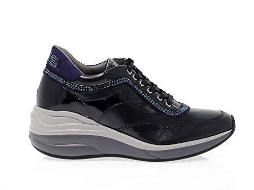 Cesare Paciotti 4Us Sneakers Donna Ed1b Pelle Blu