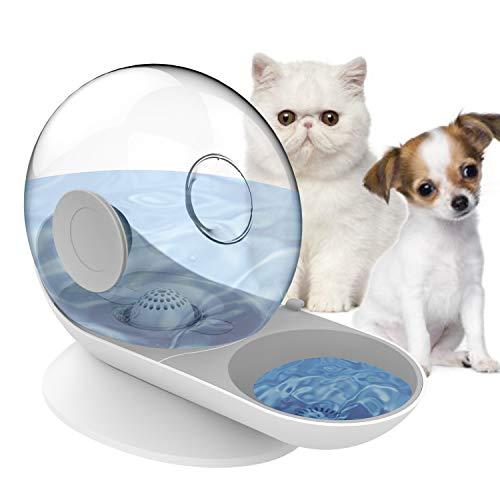 HappyCat Wasserspender für kleine Haustiere, für Hunde und Katzen, Grau Schnecke