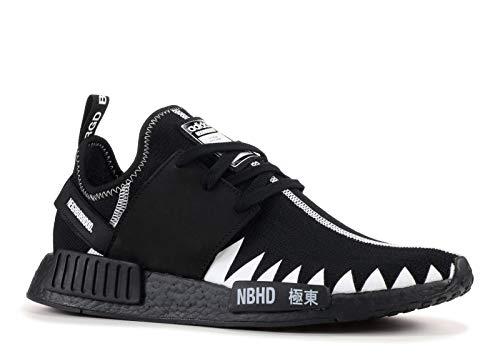 Adidas Originals NMD_R1_PK_NBHD Hombres Running Sneakers (UK 7 US 7.5 EU 40 2/3, Black White DA8835)