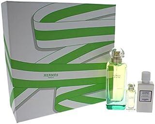 Hermes Un Jardin Sur Le Nil by Hermes for Women - 3 Pc Gift Set 3.3oz EDT Spray, 0.25oz EDT Mini Splash, 1.35oz Moisturizing Body Lotion, 3 count