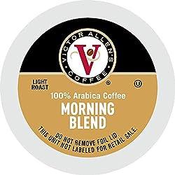 Victor Allen 's Coffee K Cups Single Serve Light Roast Coffee, Keurig 2 Brewer Compatible, Morning B