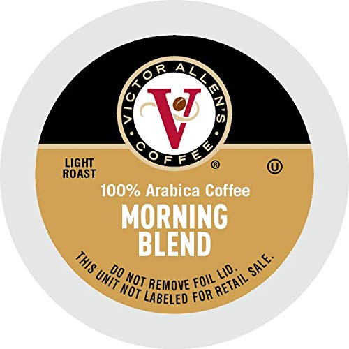 Victor Allen 's Coffee K Cups Single Serve Light Roast Coffee, Keurig 2 Brewer Compatible, Morning Blend, 80 Count