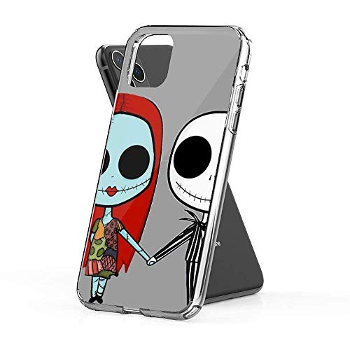 Phone Case Jack and Sandy - The Nightmare Before Christmas Compatible with iPhone 12 Pro Max Mini 11 Pro Max SE 2020 X/XS Max XR 8 7 6 6s Plus Case Pure Clear Phone Case