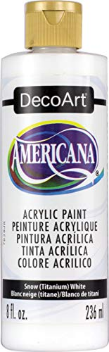 Deco Art Americana Peinture Acrylique Multi-usages, Neige Blanc Titane
