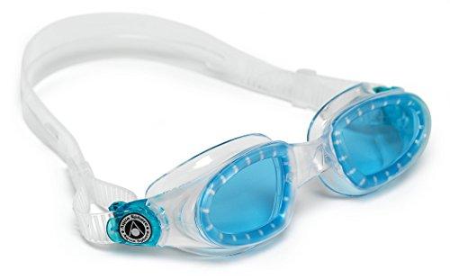 Aqua Sphere Schwimmbrille Schwimmbrille Mako, Transp/Blau, L, EP126