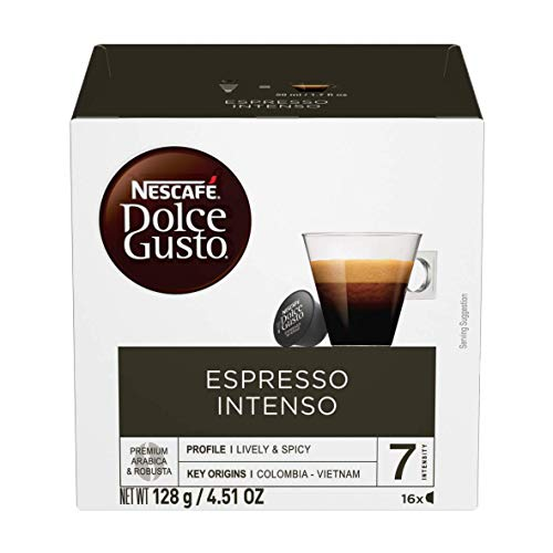 Nescafe Dolce Gusto Coffee Pods, Espresso Intenso, 16 capsules, Pack of 3