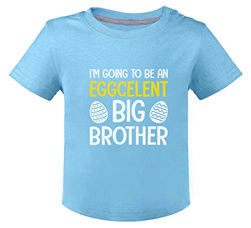 Green Turtle Easter - Eggcelent Big Brother Humour Grand frère T-Shirt Bébé Unisex 18M Bleu Ciel