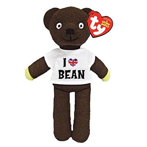 Générique Mr Bean Officielle I Love Doux Bonnet en Tricot Ours par TY (25 cm Officiel Souvenir)