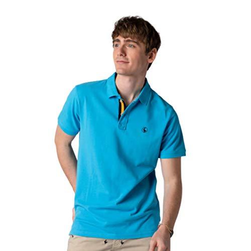 El Ganso 1100s190029 Polo, Azul Royal Claro, L para Hombre