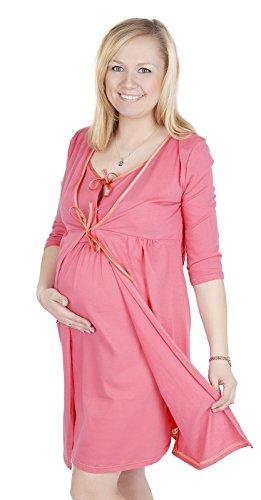 Maternité et soins /allaitement Tres belle robe de chambre 3052 (EU 36/38, Abricot)