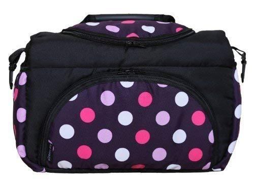 Wickeltasche KIM Baby-Joy XXL XXXL Übergroß Windeltasche Pflegetasche Babytasche Tragetasche TP-22 Schwarz Lila Pink Kugel
