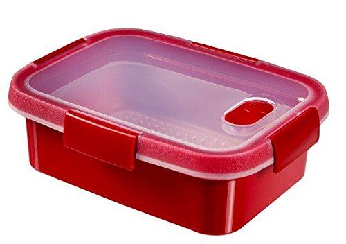 CURVER 232581Smart Mikrowelle rechteckig Dampf Kunststoff rot 21x 16x 7cm 1l