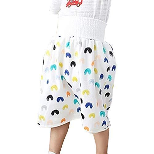TOPCL Kinder Windel Rock Shorts, 2-in-1 wasserdichte absorbierende Shorts für Baby Kleinkinder Bequeme Shorts Perfekt um den Bauch warm zu halten