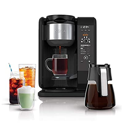 Ninja Hot and Cold Brewed System, Auto-iQ Tea and Coffee Maker with 6 Brew Sizes