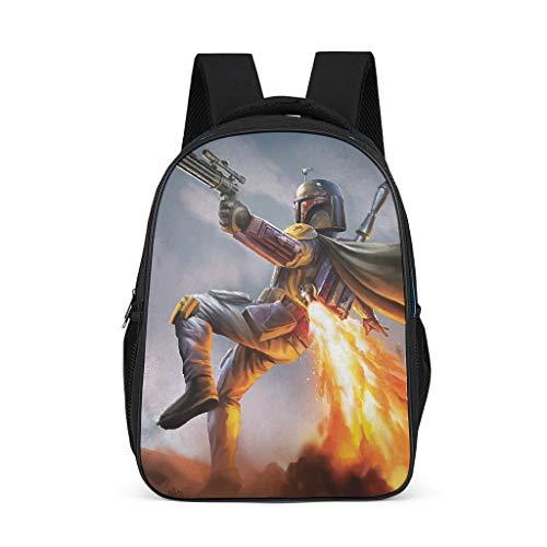 Boba Fett Jetpack Durable Children's Backpack School Book Bag Backpack for Children Adults Gift for Boys Girls