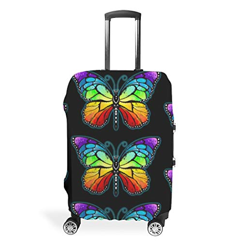 Travel Butterfly Luggage Cover Protector - Stylish 4 Sizes fit Lots of Baggage White s (49x70cm)