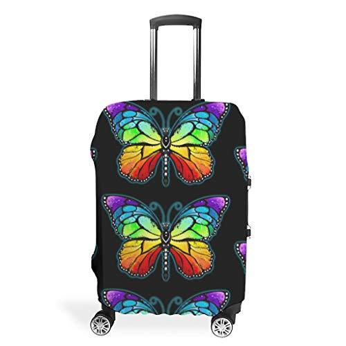 Funda para maleta de viaje con diseño de mariposa, de varios tamaños, para muchos maletines de equipaje, White (Blanco) - FFanClassic-XLXT-24