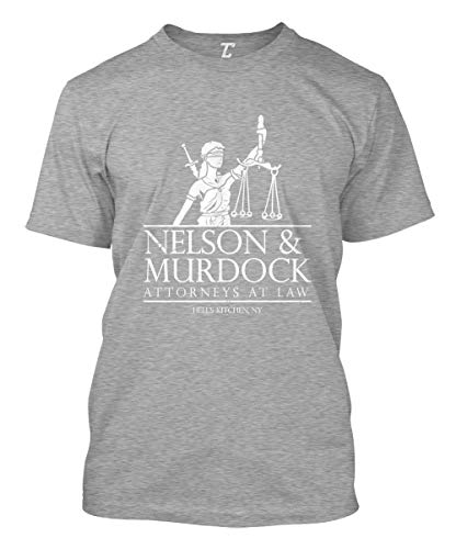 Nelson & Murdock Attorneys at Law - Comic Book Men's T-Shirt (Light Gray, X-Large)
