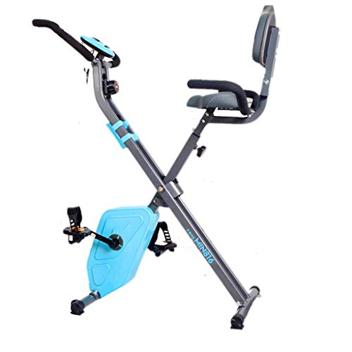 Cyclette Spinning Bike Home Pedal Attrezzature per Il Fitness Indoor Magnetic Control Pedal Mute Exercise Bike Men And Women Fitness Spinning Bike (Color : Blue, Size : 75x51x115cm)