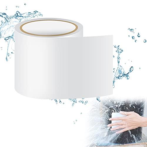 10CM x 1.5M Nastro Sigillante Autoadesivo Nastro Adesivo per Tende Professionale Impermeabile Adatto per Tende da Sole Secchi di Plastica, Taniche d'Acqua, Piscine(Bianco)