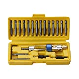 yaohuishanghang Home Tool Kit Broca de Doble Uso 20 Conjuntos Destornillador Doble de Alta Velocidad Broca de Acero Lote de Viento Lote de Viento Small Parts